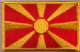 Macedonia Embroidered Flag Patch, style 08.